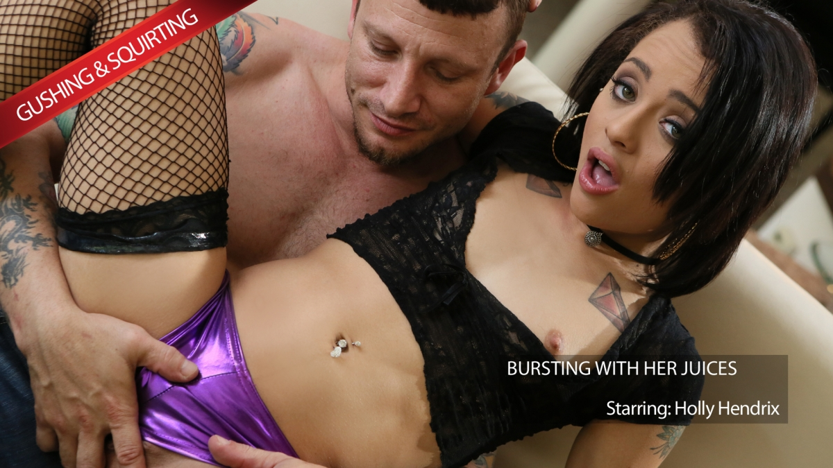 Newsensations – Holly Hendrix, Mr. Pete – Holly Gushes and Squirts Her Juices