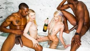 BlackedRaw – Lily Rader, Arya Fae New Friends