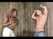 Maria Ryder – Black domina Maria Ryder humiliates dude in handcuffs until he squirts GP581   – Brazzztube