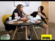 Maggie Green, Natalie Porkman – Strapping On With Stepmom – Dyked   – Brazzztube