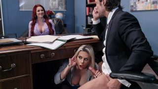 Rachel RoXXX, Skyla Novea – Hungry For A Job – BigTitsAtWork  – Brazzztube