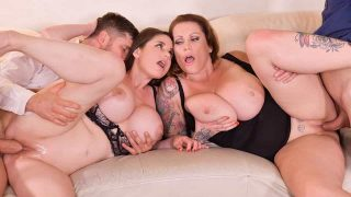 Laura Orsolya, Cathy Heaven – Busty Group Sex Banger – DDFBusty  – Brazzztube