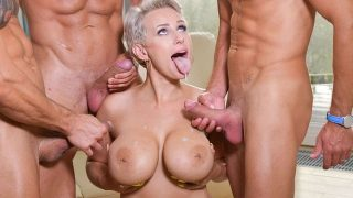Angel Wicky – Busty Blonde's Three on One Fun – DDFBusty  – Brazzztube