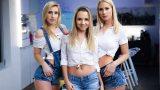 Lulu Love, Mona Blue, Sharon White – Blonde Bonanza – LezCuties  – Brazzztube