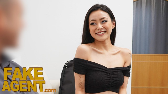 Fake Agent Asian babe Rae Lil Black fucked on the casting